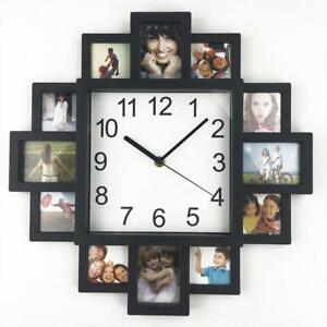 Diy Wall Clock Modern Design Photo Frame Clocks Plastic Art Pictures