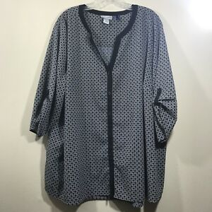 e6e8016501d Image is loading Catherines-3X-Petite-womens-top-blouse-short-sleeve-