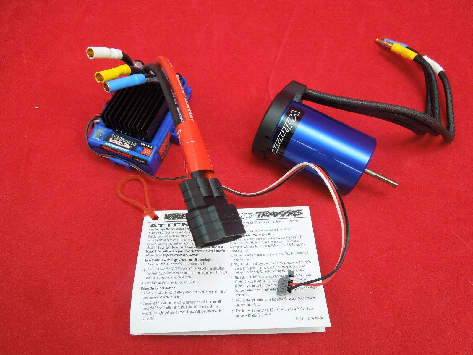 Traxxas iD VXL-3s ESC 3355R & Velineon 3500 Brushless Motor Stampede Rustler vxl