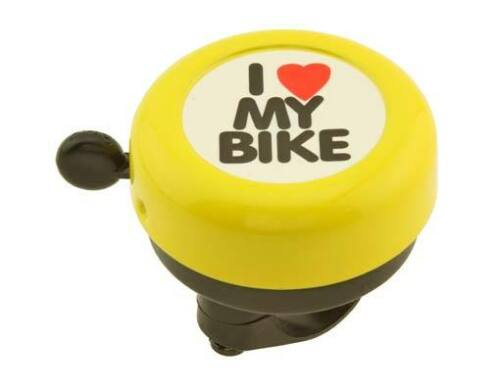 Bicycle Bell I LOVE MY BIKE black silver pink purple red green yellow gold blue