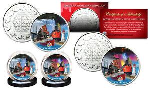 CANADA-150-ANNIV-2017-Loonie-Dollar-Design-on-RCM-Medallions-2-Coin-Canada-Set