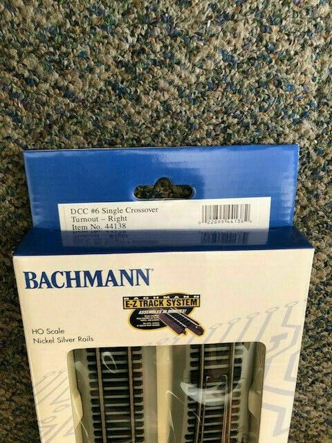 Bachmann Bac44138 HO #6 Single Crossover Right Turnout DCC EZ Command  Nickel-sil for sale online | eBay | True Track Dcc Crossover Wiring |  | eBay