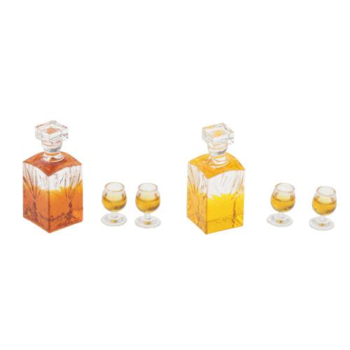 Puppenküche Whiskyset 6-teilig Puppenhausmöbel Puppenhaus Dekor Mini Spielzeug
