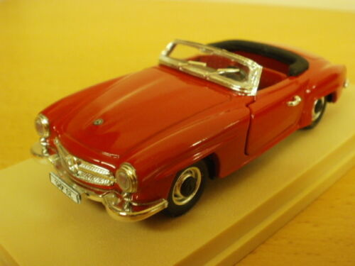 1:43,rio embalaje original rojo 1955-63 mercedes benz Roadster