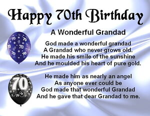 Image Is Loading Fridge Magnet Personalised Grandad Poem 70th Birthday FREE