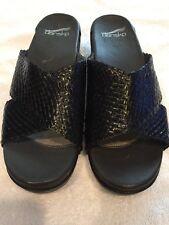 New Dansko Womens Woven leather Slide Sandal Platform Leather 39 M