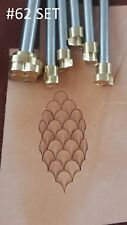Leather crafting stamp tool for leather crafts stamps Dragon scale #354 SET
