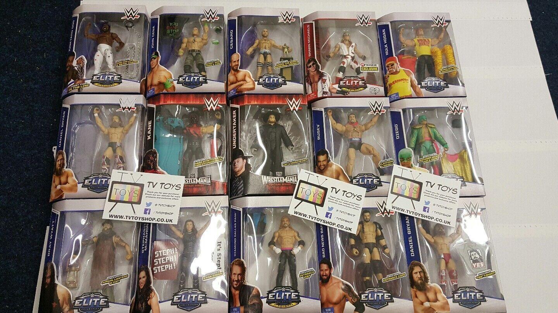 WWE Elite Mattel wrestling figures New boxed WWF