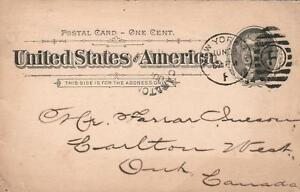 1894-USA-POSTAL-CARD-SCOTT-STAMP-amp-COIN-Co-Ltd-Posted-in-New-York-to-Canada