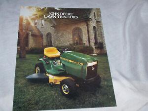 John Deere 100 Series >> Details About 1987 John Deere 100 Series Lawn Tractor Brochure 175 165 130 160 180 185