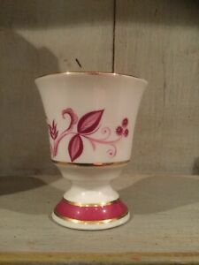 Sur-Berry-amp-Limoges-Gold-Gilt-Small-Posy-Vase-with-floral-design-9cm-Tall