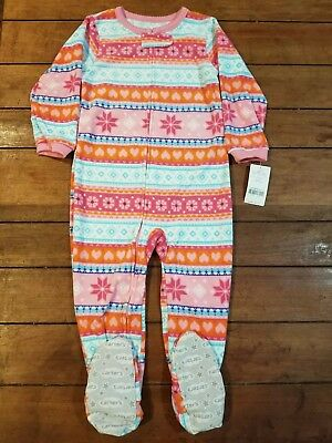 NWT ☀FOOTED FLEECE☀ CARTERS Girls MOUSE  Pajamas   NEW  3T