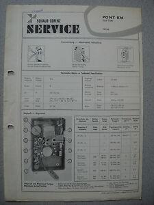 ITT/Schaub Lorenz Pony KM Service Manual