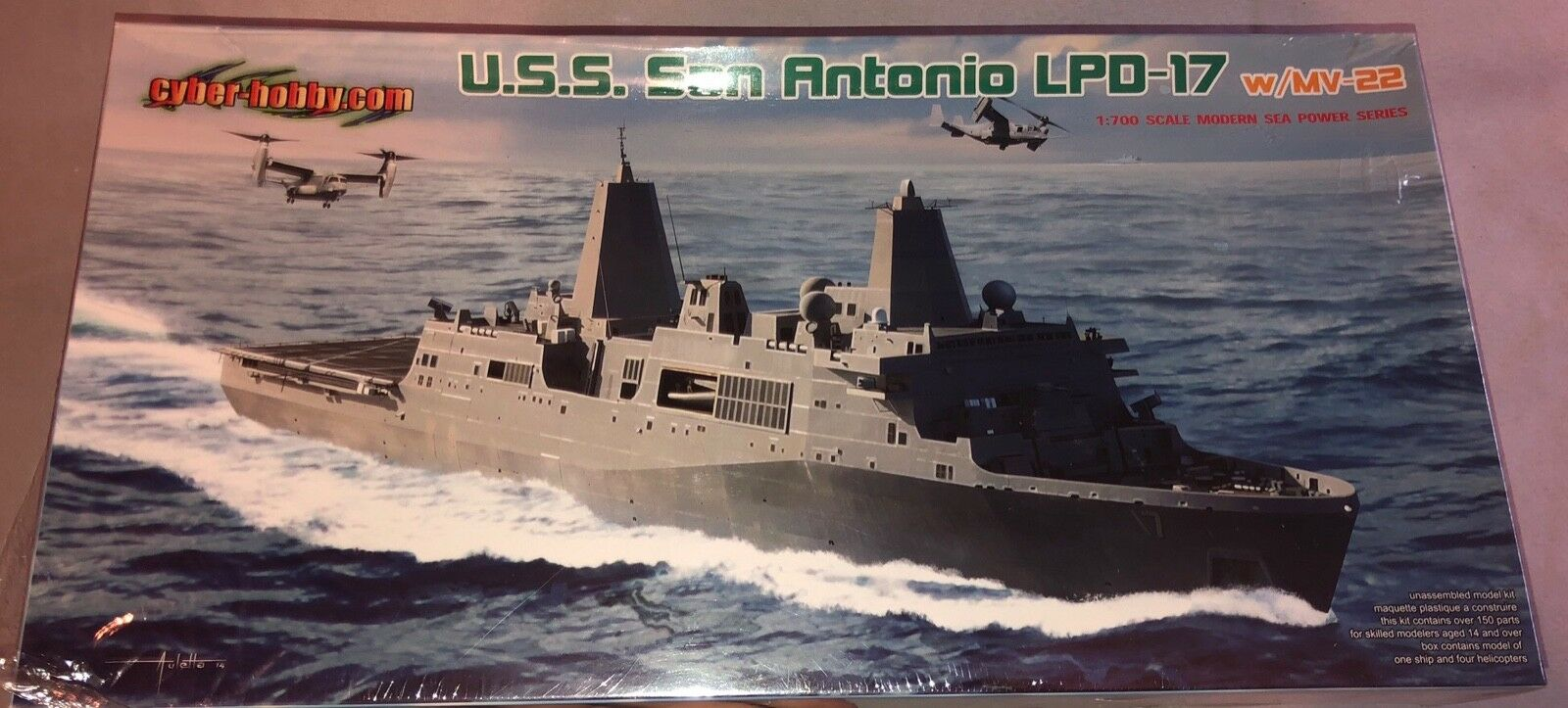 Dragon USS San Antonio LPD-17 w MV-22 1 700 FS 'Sullys Hobbies'
