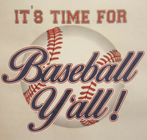 ALL AMERICAN OUTFITTERS IT/'S TIME FOR BASEBALL YALL SPORTS SHIRT SC-79