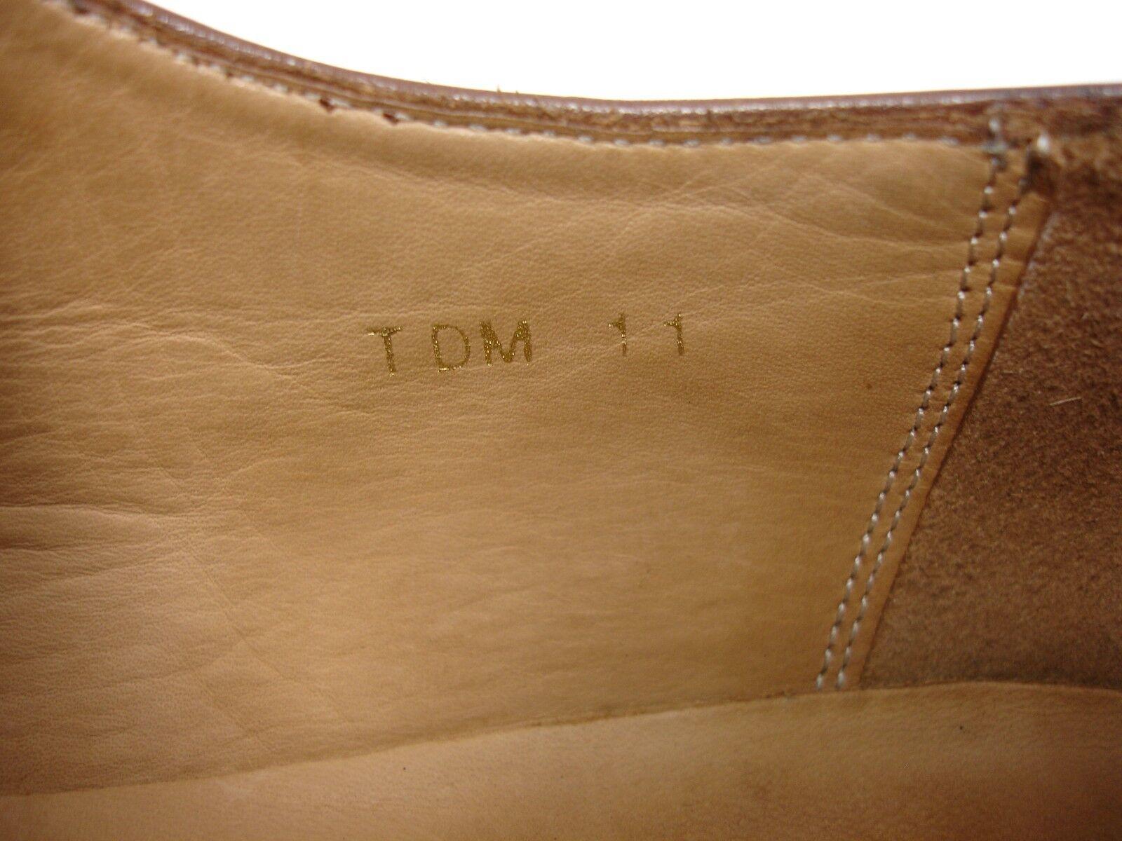 3DM LEATHER LIFESTYLE PLAIN DERBY BROWN LEATHER 3DM OXFORD DRESS SHOES MEN  UK 11 US 12 12.5 e85b96