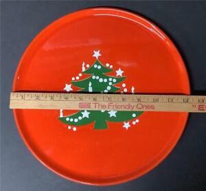 """Waechtersbach Christmas Tree Round Platter Chop Plate red green 12-3/8"""""""