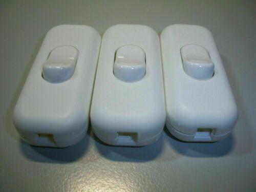 Interrupteur 3 pcs 250 V ficelle Commutateur kabelsch. récupérateurs h9. 2 A Blanc