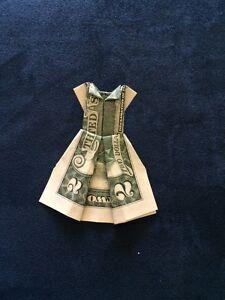 Easy Money DRESS Origami One Dollar Tutorial DIY Folded No glue ...   300x225