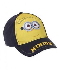 d2e7e5ea6af58 MINION casquette enfant taille 52 ou 54 bleu marine et jaune Minions ...