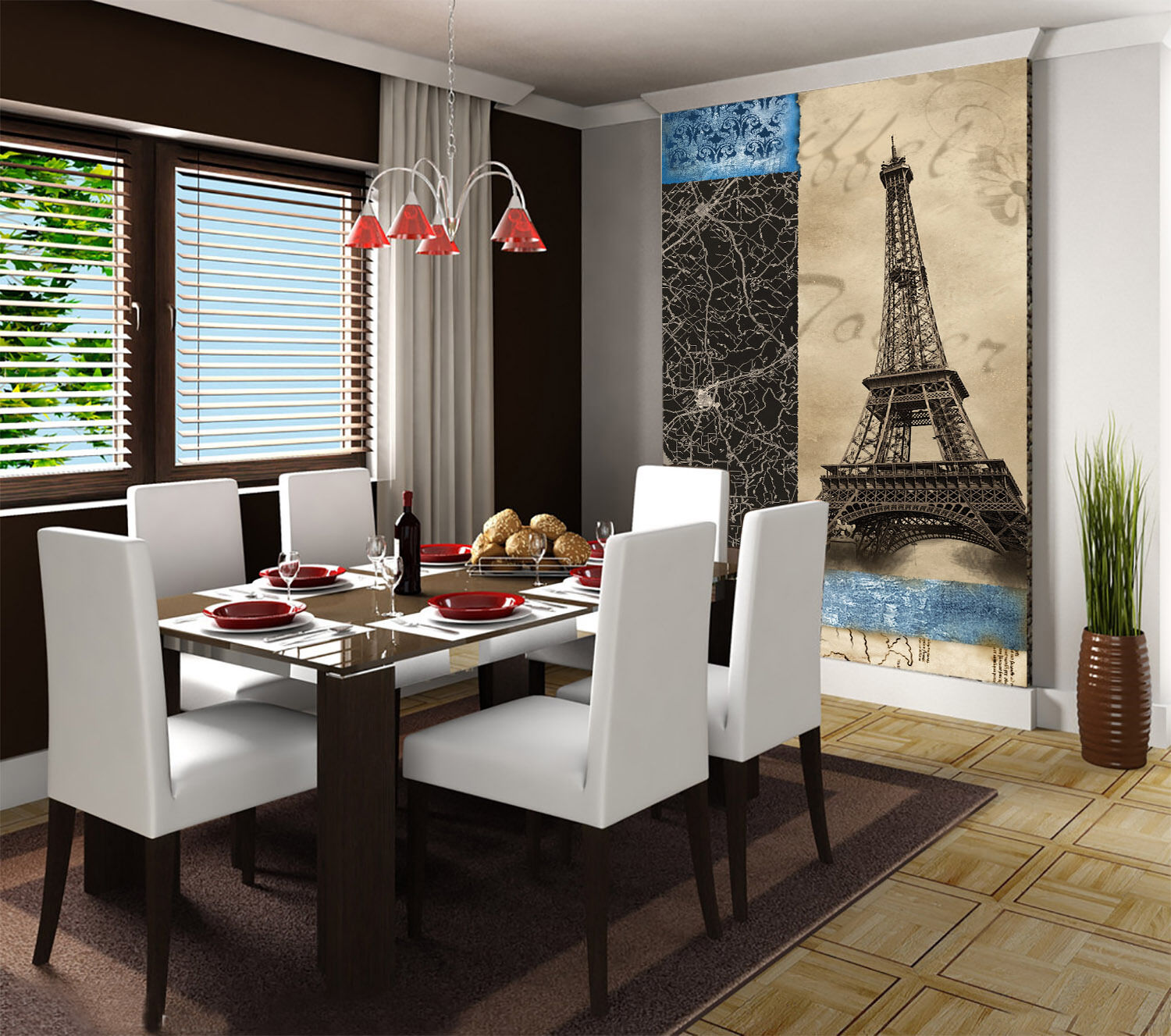 3D Eiffel Tower 91 Photo Papier Peint en Autocollant Murale Plafond Chambre Art