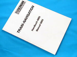 Fleischmann-6893-Train-Navigation-Manual-Anglais-Allemand-modelisme