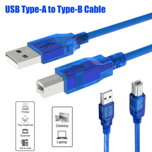 Camera Type A Male To B Male Scanner Wire Sync Data Cord USB 2.0 Printer Cable