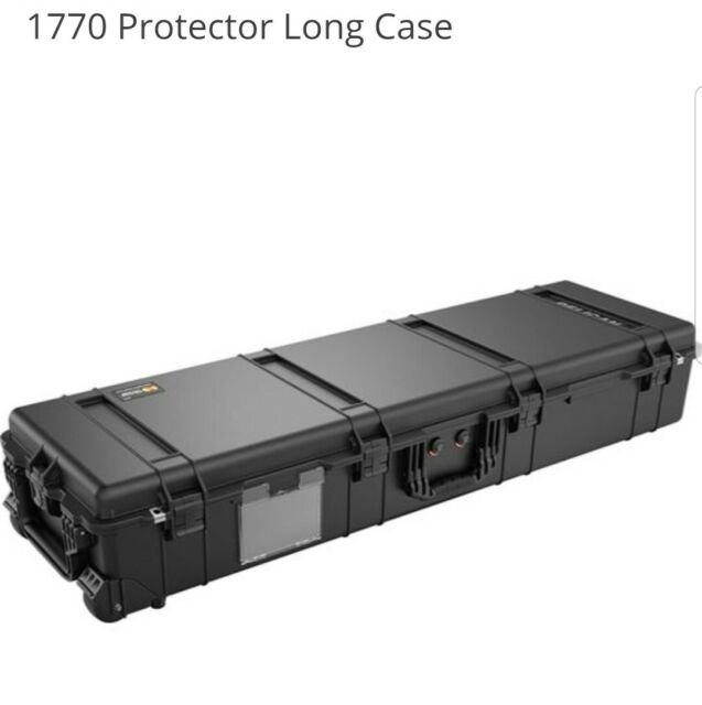 Pelican 1770 Large Transport Case With Pre Mad Foam-in Black-Equipment Cases