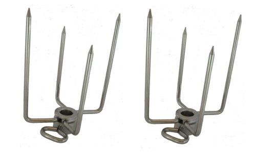 OneGrill Stainless Steel Rotisserie Forks 4PF204