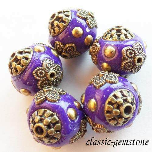 15mm Beautiful Rare earth Tibet silver Spacer Beads XJ-268 Wholesale