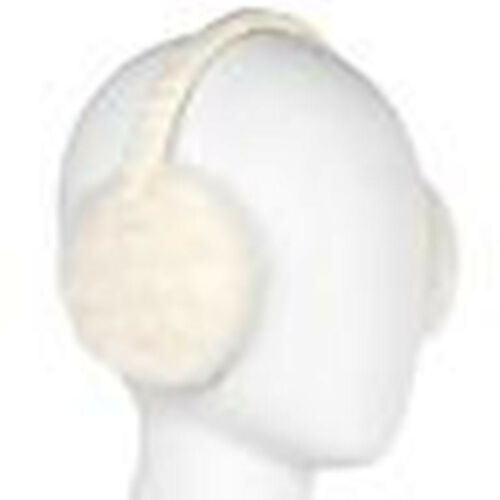 BRAND NEW IN PACKAGE Faux Fur Acrylic//Polyester Ear Muffs Pure White NICE//WARM