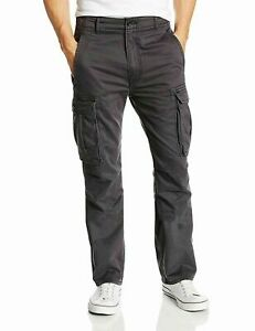 Levis-Relaxed-Fit-Ace-Cargo-Pants-Charcoal-Gray-Levi-039-s-New-with-Tags-0049
