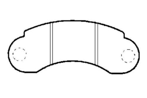 4x Bremsbeläge Bremsbelagsatz Vorne Mercedes-Benz