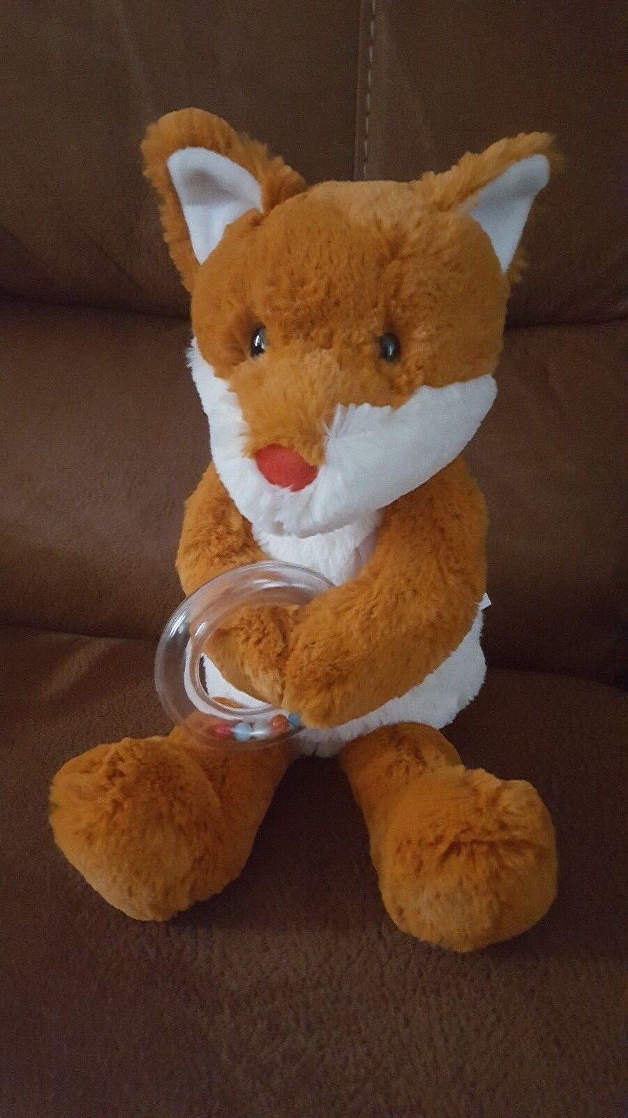MANHATTAN Toy Company Felix Fox Baby Sonaglio Peluche Giocattolo morbido di peluche 14