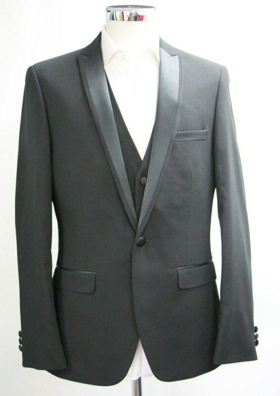 Men's Harry Brown Black 3pc Slim Fit Suit (40r)..sample 4146