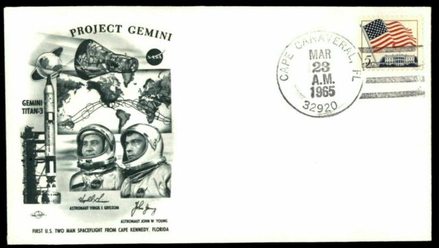 US 1965 Project Gemini Virgil Grissom John Young Cover Titan 3