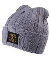 Dissizit Grey Or Black Knit Skull Cap Acrylic Winter Snowboarding Beanie Hat