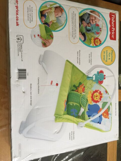 Baby Bouncer Seat Vibrating Chair Curve Fisher Price Rainforest Friends Comfort