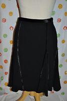 Etcetera Womens Size 4 Eclipse Black W Velvet Flowing Skirt $$$
