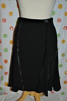 Etcetera Womens Size 4 Eclipse Black W Velvet Flowing Skirt $$$