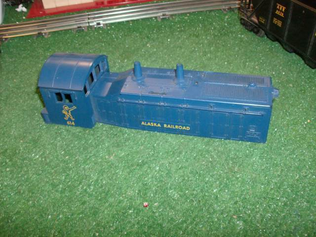 LIONEL POST WAR 614  ALASKA NW2 SWITCHER SHELL ONLY  ALL  ORIG   EXC COND 1959