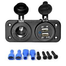 Dual USB Car Cigarette Lighter Socket Splitter 12V Charger Power Adapter Outlet~