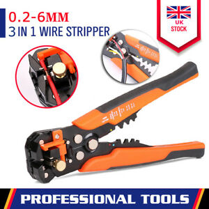 Self-Adjustable Automatic Cable Wire Crimper Crimping Tool Stripper Plier Cutter 192701915766