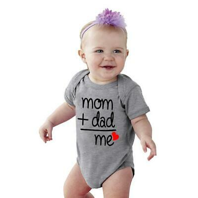 Cute Baby Boy Girl Summer Leisure Rompers Short Sleeve Letter Print Sunsuit