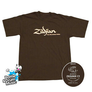 Zildjian-Classic-Chocolate-T-Shirt-Genuine-Zildjian-Merchandise