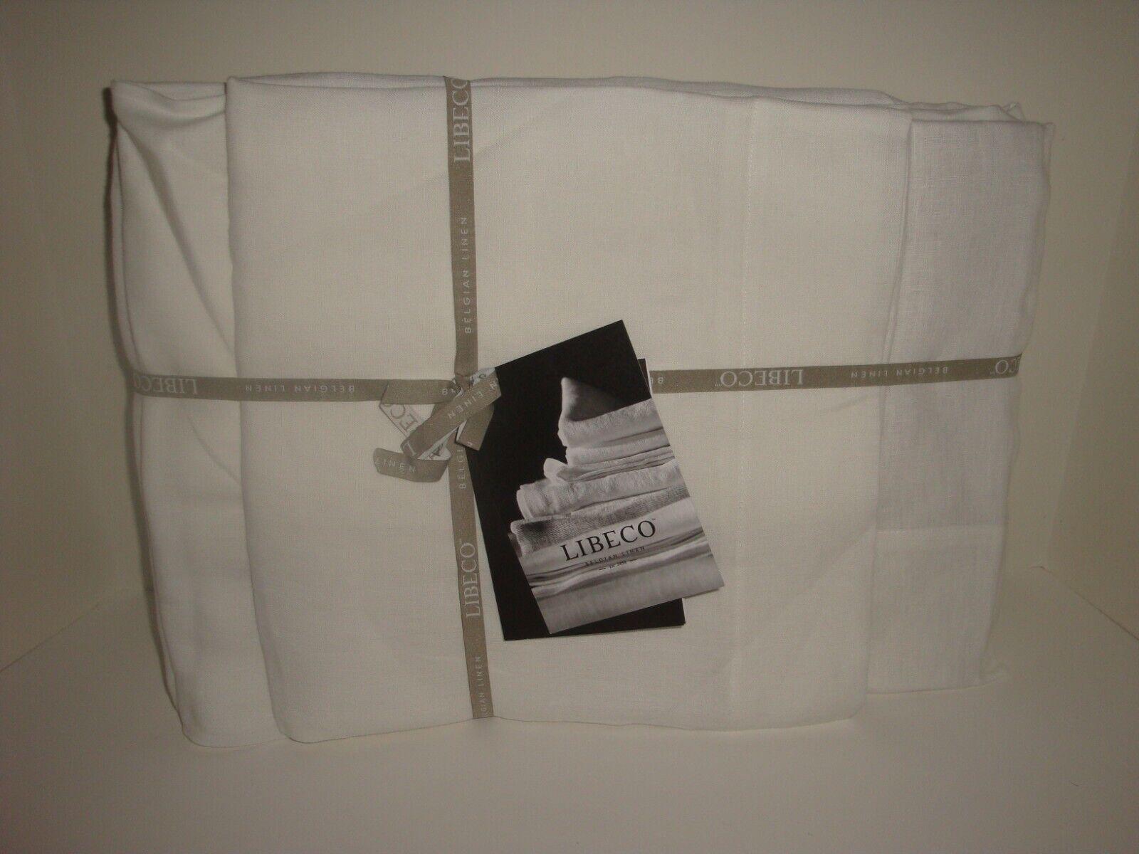 LIBECO HOME 4-PC KING Sheet Set WHITE 100/% Belgian Linen NEW