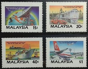 MALAYSIA-1987-ASIA-PACIFIC-TRANSPORT-amp-COMMUNICATIONS-DECADE-SG-379-382-MNH