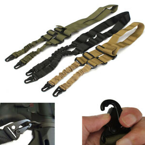 Two-Point-Sling-Nylon-Adjustable-Hunting-Waist-Belt-Strap-with-Buckle-Hook