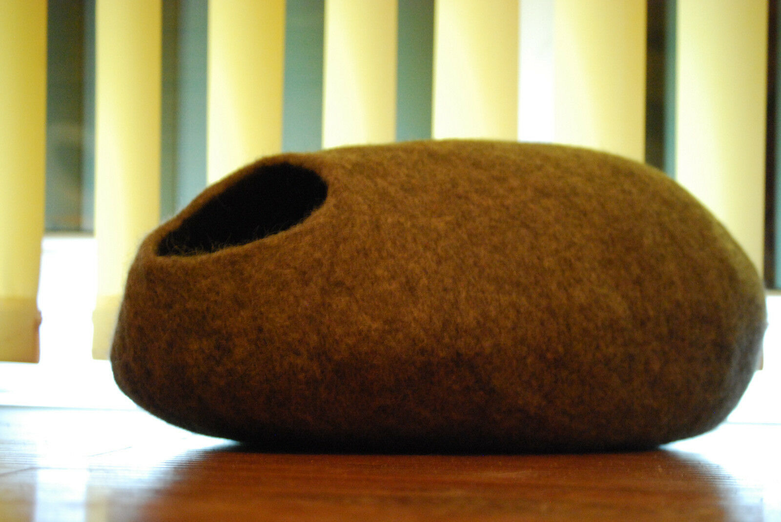 Cat cave Handmade felted  Wool 100 %
