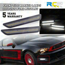 Led Smoked Lens Front Side Marker Lights With White For 2010 2014 Ford Mustang Fits Mustang